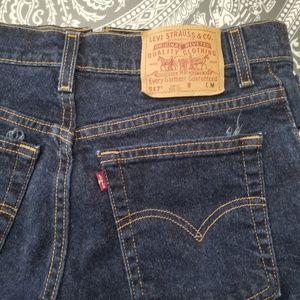 Levi's 517 slim cut off jeans